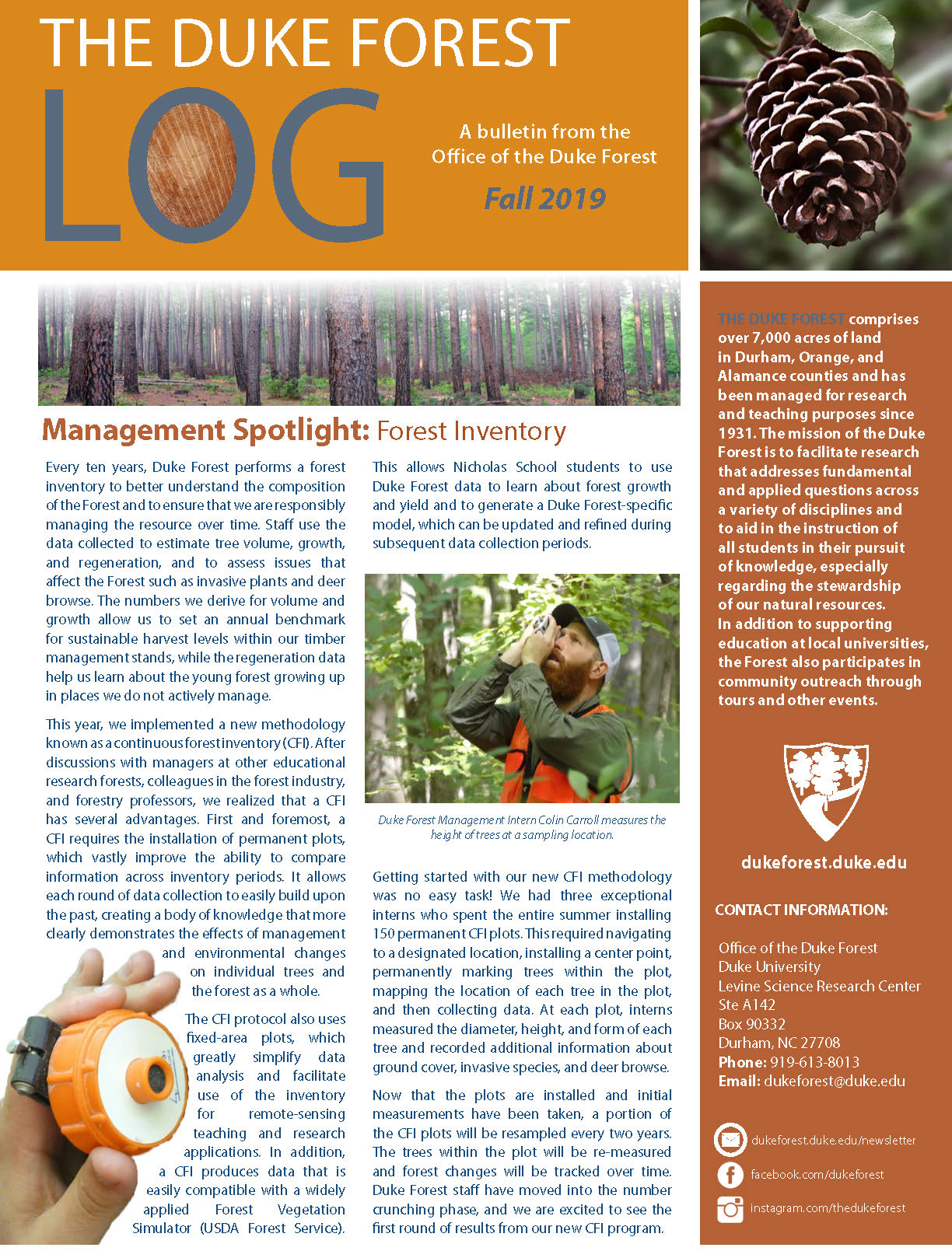 Cover image of 2019 The LOG