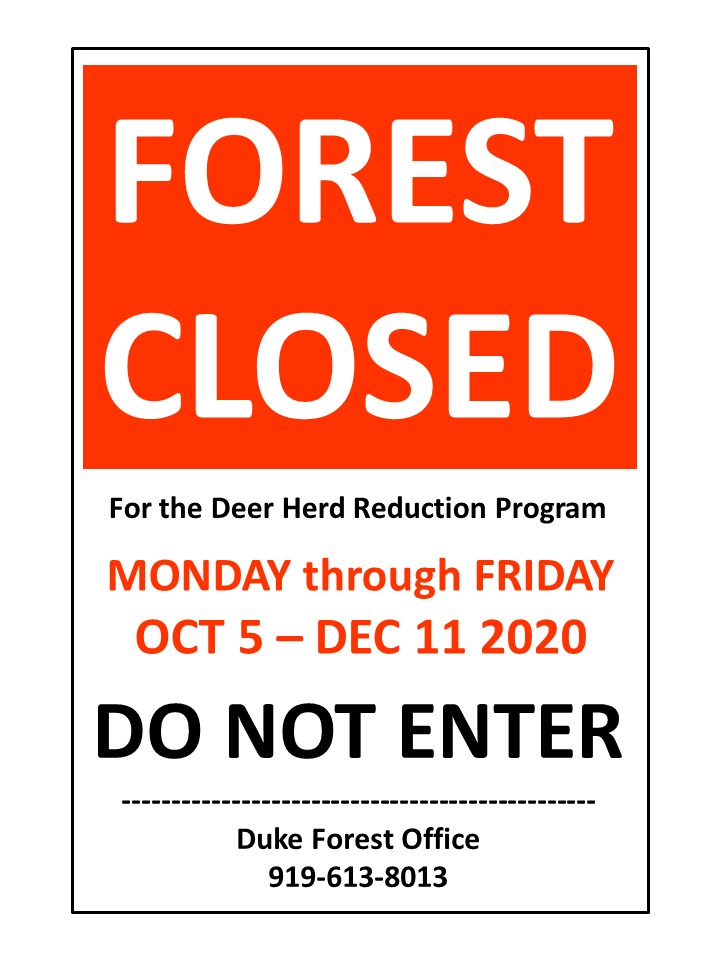 Red Forest Closed sign example