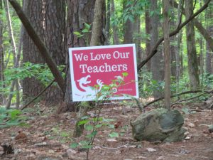 yard sign placed in Forest