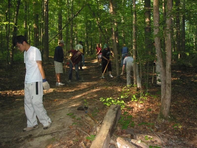 Trail Work Korstian Gate 26 area 001